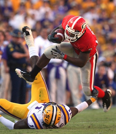 LSU at Georgia. The Bulldogs and Tigers have won five of the last eight SEC championships.  Brant Sanderlin / bsanderlin@ajc.com