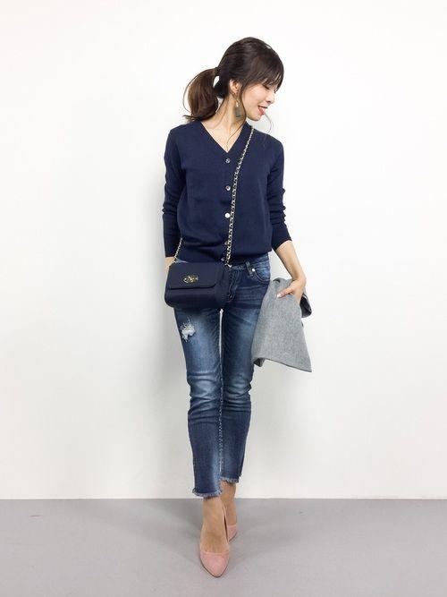 Spick & Spanのカーディガン「COTTON V カーディガン◆」を使ったRINA(ZOZOTOWN)のコーディネートです。WEARはモデル・俳優・ショップスタッフなどの着こなしをチェックできるファッションコーディネートサイトです。