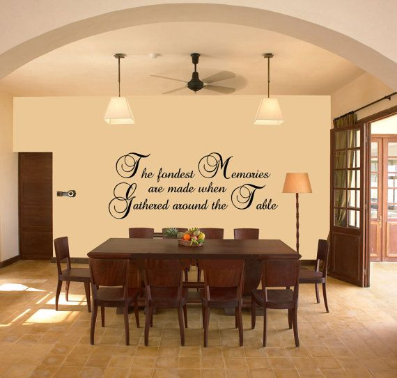 Dining room wall vinyl quotes quotesgram for Dining room quote decals
