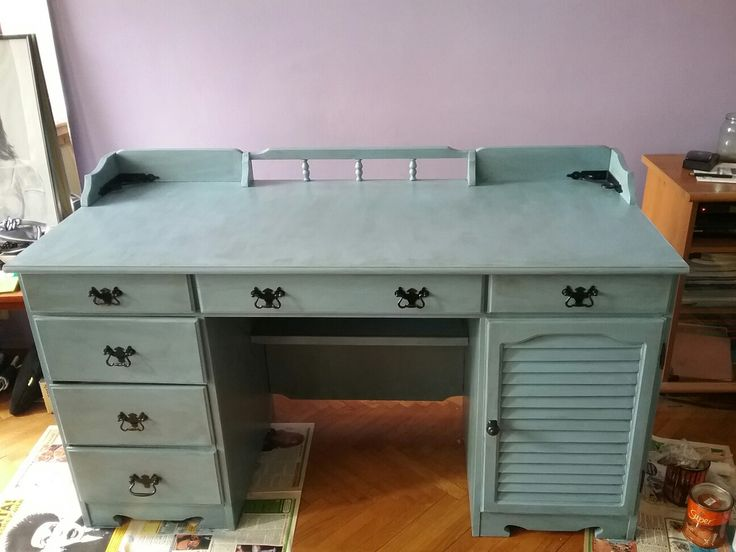 Desk redone with chalk paint