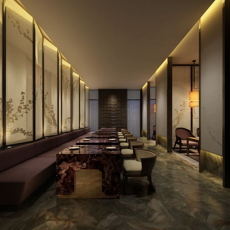 'The Dragon' chinese restaurant's interior design, Hangzhou. DYLAN Wang Design.
