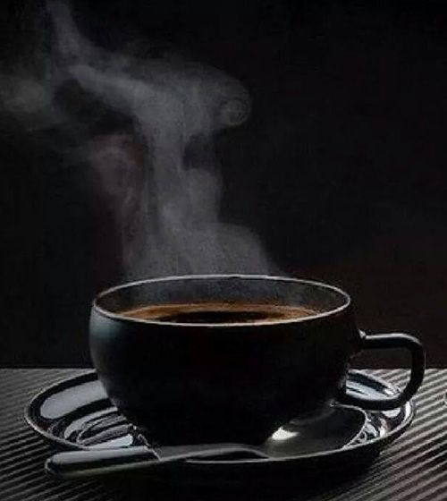 Black Coffee ~ and when you would like to treat yourself to something different, try putting some canned Carnation (or Pet) evaporated milk in you coffee, it compliments the flavor of coffee perfectly, so much better than milk or even half-n-half... ;-)