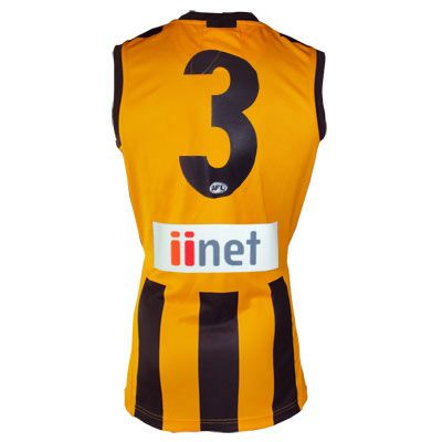 Official AFL Guernsey Numbers -  Single Digit - BROWN number  - Home Guernsey $10
