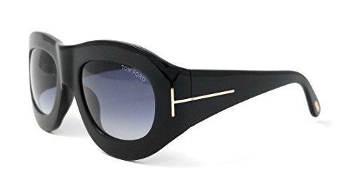 3adf8d3d27 Descendants Costumes Tom Ford Womens FT040301V Mila Oval Sunglasses Black     Click for Special Deals