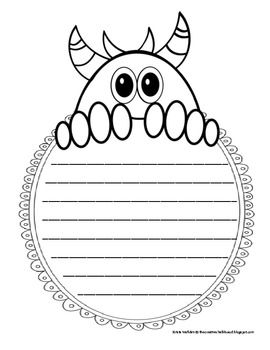 FREEBIE! 10 pages of cute little monster writing pages. Blank and lined included- perfect for making writing a little more fun!
