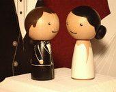Custom Wedding Cake Toppers Superhero Cake by IttyBittyWoodShoppe
