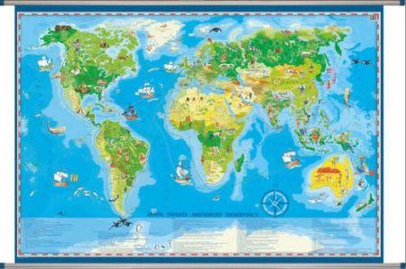 Globeo - Świat małego odkrywcy - mapa dla dzieci 1x1,45m