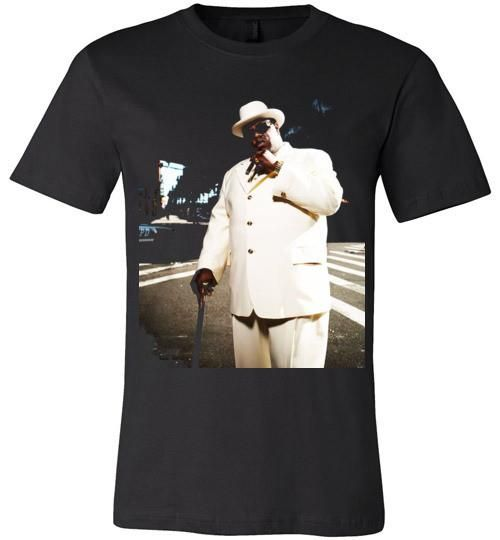Notorious BIG Biggie Smalls Big Poppa Frank White Christopher Wallace,Bad Boy Records, Hip Hop New York Brooklyn,v7, Canvas Unisex T-Shirt