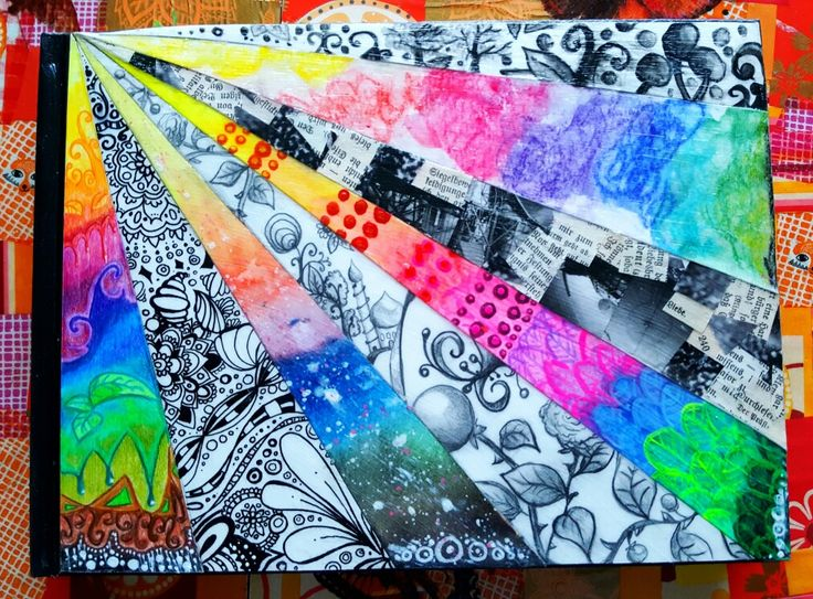 My Sketchbook Cover - there is going to come an sketchbook Challenge on my Youtube Channel soon!!! #sketchbook #art Journal #cover #mixedmediaart #Mixed Media #instadraw #color #improovemyart #practice