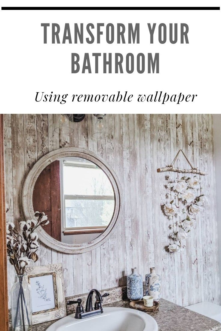 How To Apply Removable Wallpaper To Completely Transform Your Bathroom Removable Wallpaper Diy Bathroom Decor Floral Print Wallpaper