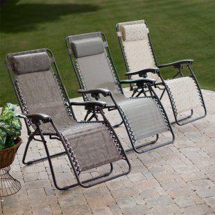 Coral Coast Modern Mesh Zero Gravity Lounge Chair