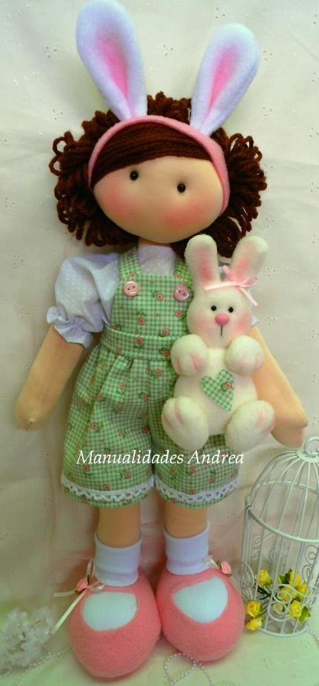 menina e coelho!
