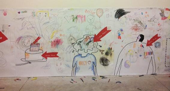 LABCONTINUO Edizioni Corraini – Draw here. Un viaggio tra le pagine degli album da colorare di Marti Guixe che per l'occasione si trasformano in grandi pareti sulle quali il visitatore potrà lasciare il proprio segno.