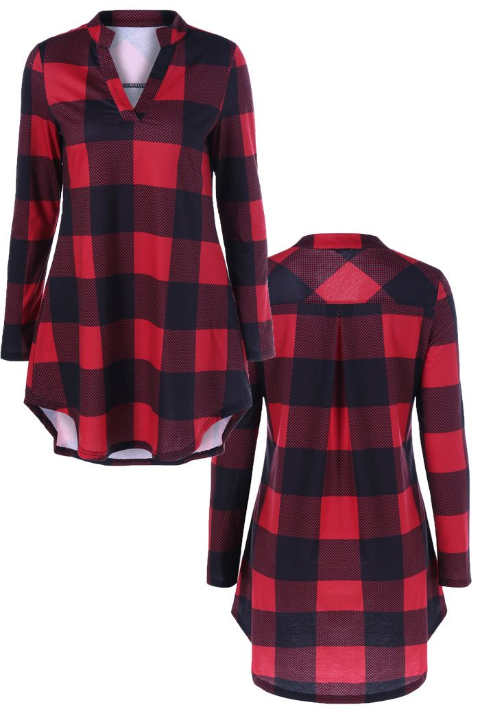 Plaid and Polka Dot T-Shirt Only $7.85