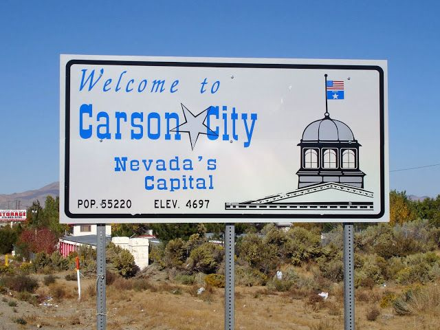 Geographically Yours Welcome: Carson City, Nevada