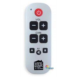 La télécommande universelle àgrandes touches pourra commander tous vos appareils de télévision: votre TV, le décodeur, la box internet, le satellite, etc. Elle est compatible avec toutes les marques et simple d'utilisation pour un prix tout doux. Ne vous y perdez plus avec toutes les touches de vos télécommandes, Senior TipTop a la solution pour vous. Nouveau design plus compact.