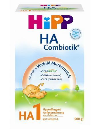 Hipp гипоаллергенная 500 г  — 771р. ---------------------------- Гипоаллергенная смесь HA Combiotik Хипп предназначена для детишек в возрасте 0-6 месяцев, которые не имеют возможности получать мамино молочко. Упаковка - картонная коробка. Вес - 500 г.
