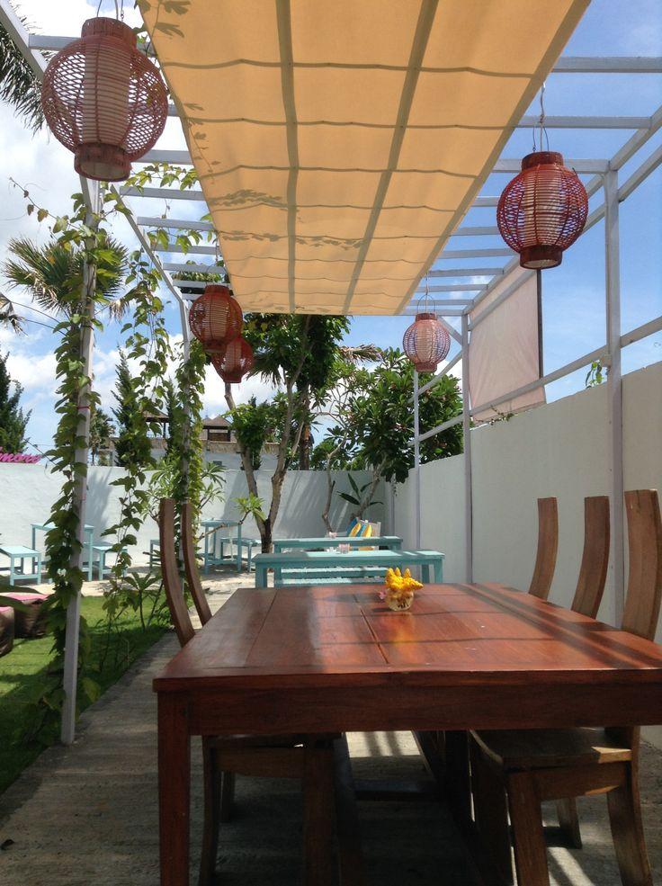Beautiful garden at echo beach Bali