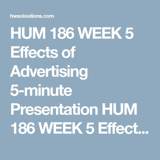 hum 186 week 3 Hum/186 influence of entertainment media paper 08/05/2013 technology is advancing and the media is doing the same with these changes it affects different avenues such as online schooling, blogging, and authors being able to publish their work online.