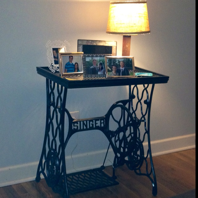 7 best images about repurposed treadle sewing machines on pinterest antiques vintage and - Four ways to repurpose an old sewing machine ...