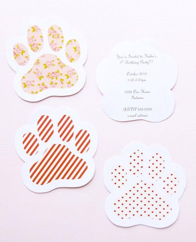 paw print invites