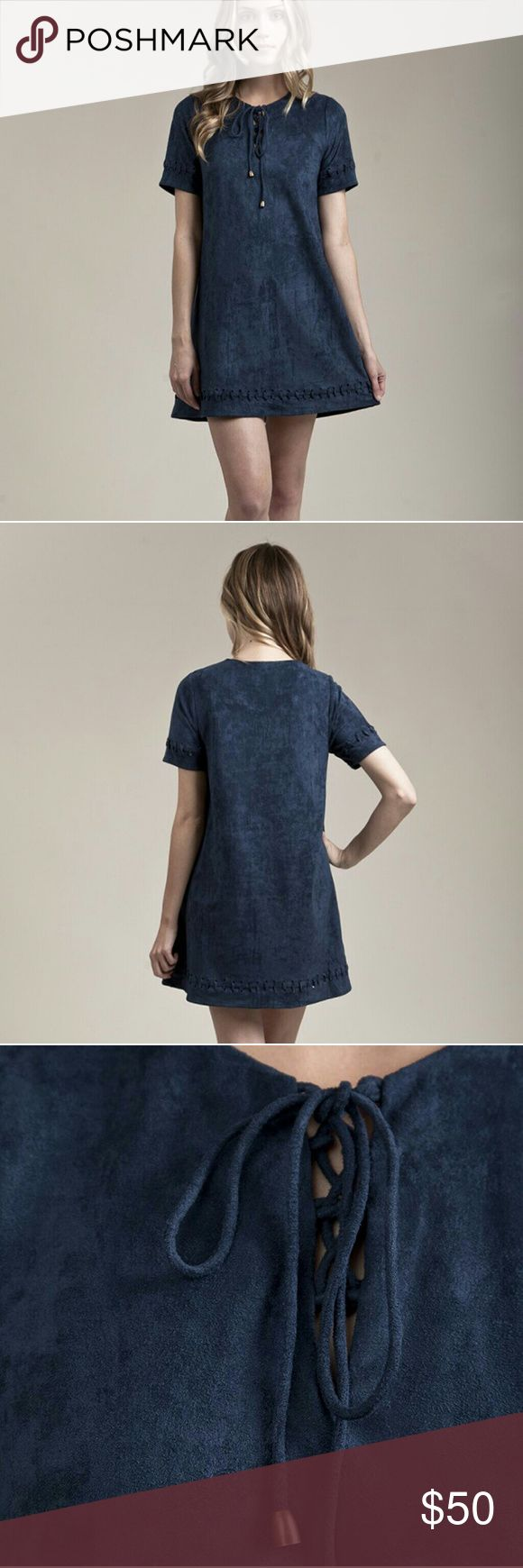 $90 Anthropologie Moon River Suede Lace Up Dress Brand is Moon River, sold in stores like Anthropologie and ASOS for $90 original retail. Worn only once. Anthropologie Dresses Mini