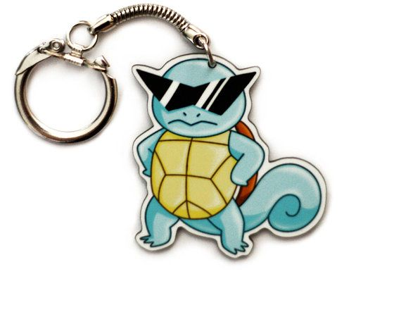 Squirtle Squad Keychain  Deal With It Meme  by GeekyCuteCrochet