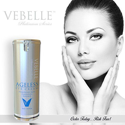 VEBELLE Anti Wrinkle Eye Cream by Anti Aging Company: Top Rated Under Eye & Crows Feet Moisturizer Treatment, Organic & Natural Instant Moisturizing & Hydrating, Best for Fine Lines & Wrinkles - .5oz