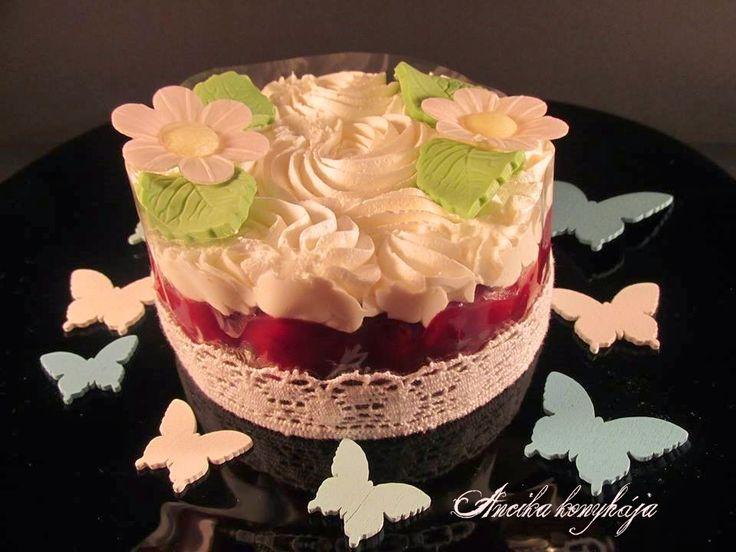 Ancika konyhája: Mascarponés meggyes torta