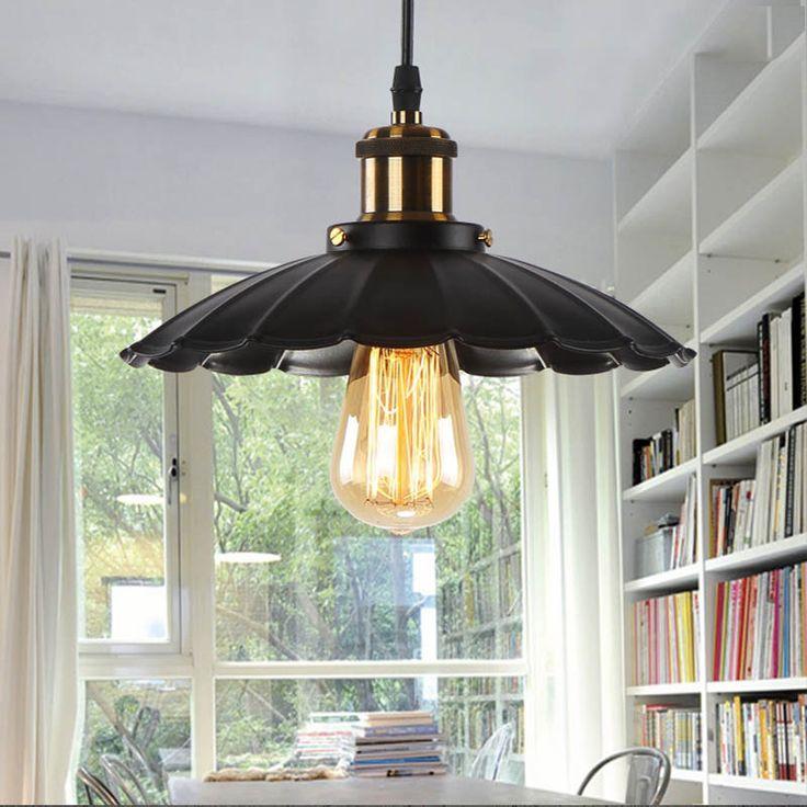 vintage pendant lamp metal filament pendant aged steel vintage industrial lamp Iron Black indoor unique pendant light #Affiliate