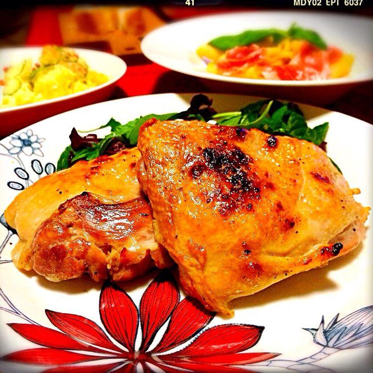 すずらん's dish photo シローさんの料理 炊飯器で 鶏のコンフィ | http://snapdish.co #SnapDish #レシピ #クリスマスグランプリ2013 #この時期だから華やか料理 #晩ご飯 #肉料理 #クリスマス