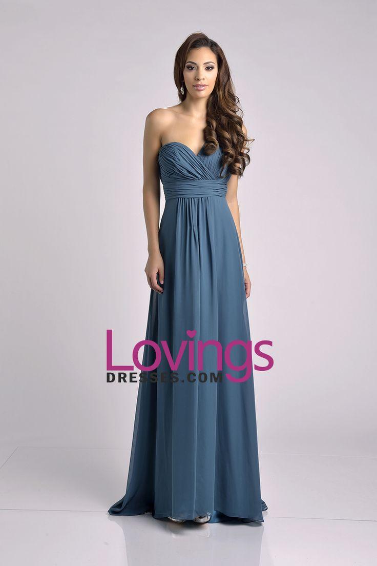 2016 New Arrival One Shoulder Bodice Bridesmaid Dresses Ruffled Bodice Chiffon A Line US$ 109.99 LDPM549ZKA - lovingsdresses.com for mobile