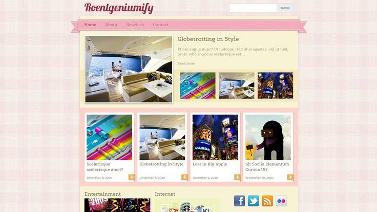 Roentgeniumify WP-Theme - Download: http://www.paddsolutions.com/wordpress-theme-roentgeniumify/
