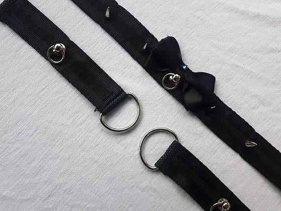 Kitten play collar and cuffs set / BDSM / pet play / DDLG /