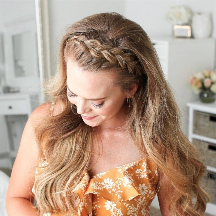 "Melissa Cook ( Missy ) on Instagram: ""Dutch Headband Braid 🎥 Click the link in my profile to learn this style + 3 other half up dutch braid hairstyles! 💕 #missysueblog…"""