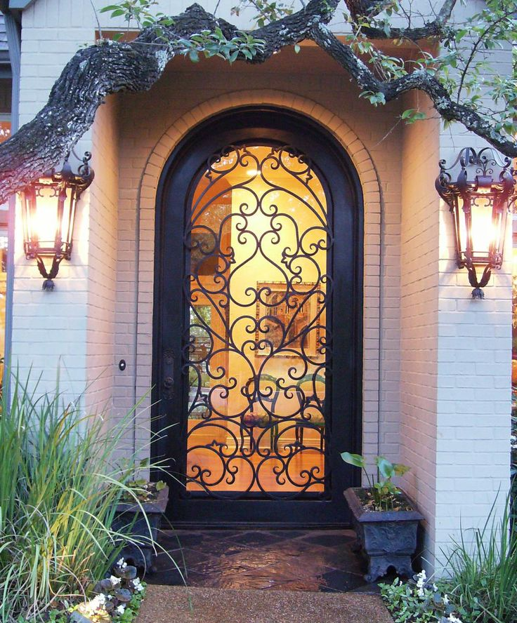Wrought Iron Door Charlotte NC  www.thelookingglass.ws #irondoor #door