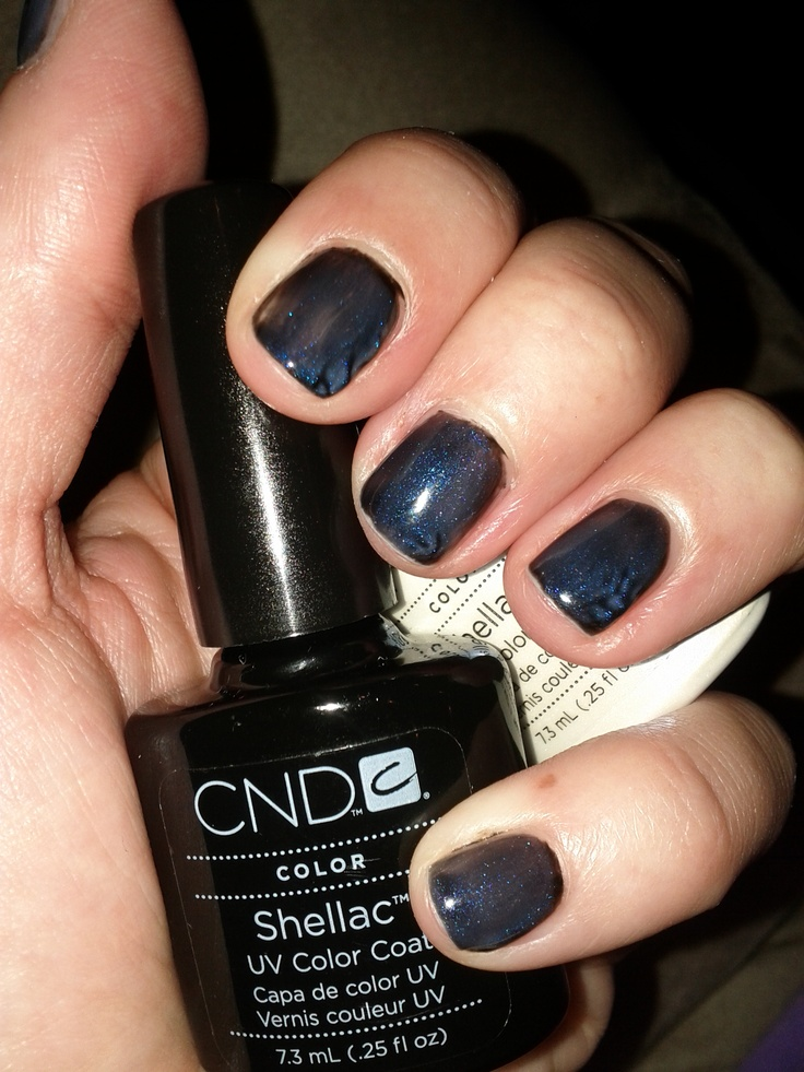 Cnd Shellac Black Pool Uv Polish Free Shipping At Nail Polish Canada