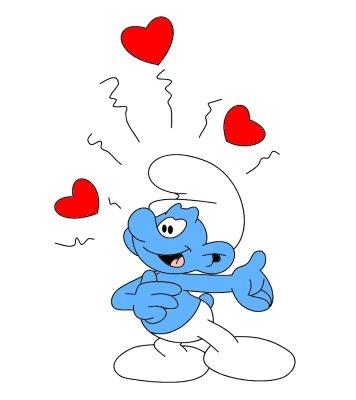 37. Enamored Smurf