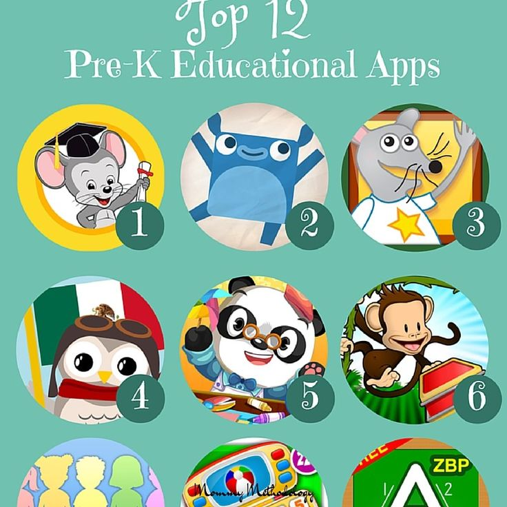 Top 12 Pre-K Educational Apps for Kindle & Android reviews included - a MUST for any parent who wants their child to learn while using technology for play.