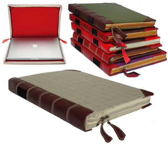 Book Cover Vintage Yoga : Quot leather sleeve case cover for your laptop book