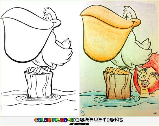 Coloring Book Corruptions Mermaid