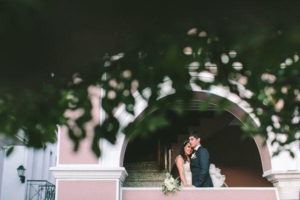Romantic wedding photos in Skiathos | Destination Wedding in Greece