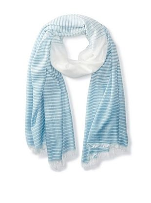 58% OFF Jules Smith Women's Striped Scarf, Blue/White, One Size