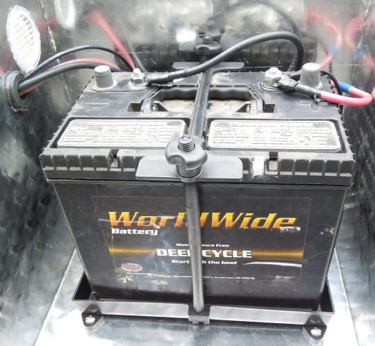 rv mod - making a box to hold battery more securely