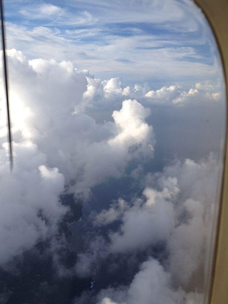 新島帰りの飛行機にて