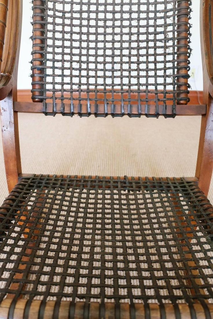 Rare George Hunzinger Rocking Chair With Patented Steel Webbing, 1869    From A Unique Collection