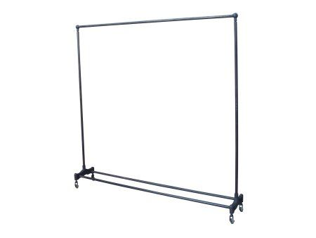 iron clothing rack antiqued clothes rail distressed metal clothes rail warehouse look clothes - Metal Clothes Rack