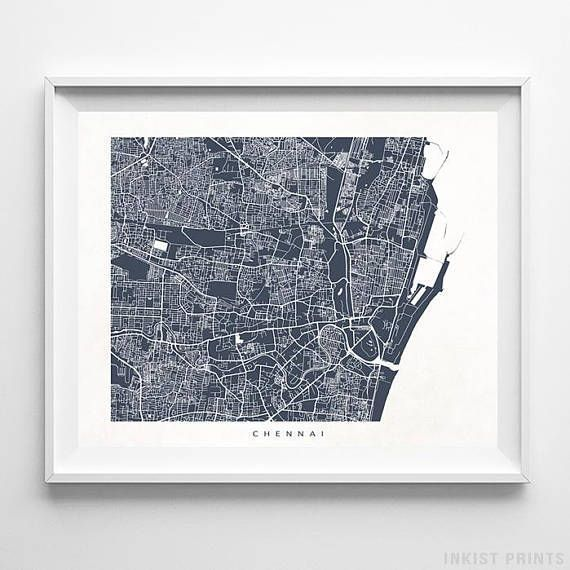 wall art picture travel print home decor poster Chennai India gift
