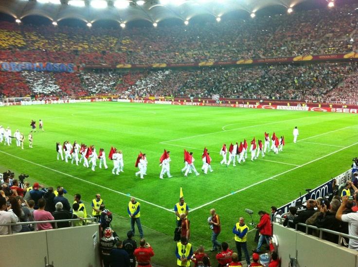 Arena Nationala,in deschiderea  meciului Athletico Madrid - Athletic Bilbao Finala UEFA Europa League