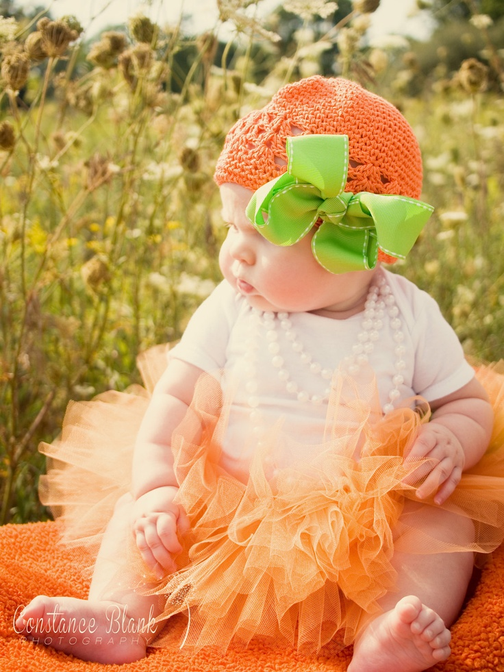 Little Pumpkin Newborn Infant Halloween Costume Photography Prop. $32.95, via Etsy.